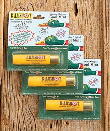 Sets of 3 Balmshot® Lip Balms (Cool Mint)