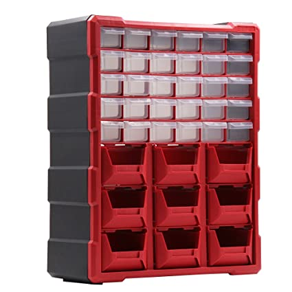 39 Drawer Plastic Small Parts Storage Bin Organizer Hardware and Craft Cabinet Teacher Tool Box (  sc 1 st  Amazon.com & 39 Drawer Plastic Small Parts Storage Bin Organizer Hardware and ...