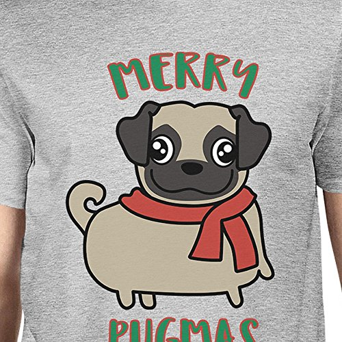 Taille Homme Pugmas T Merry Unique Courtes Pug Manches 365 shirt Printing wqYXZxUR