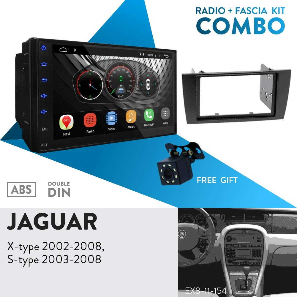 UGAR EX8 7 Android 8.1 Car Stereo Radio Plus 11-154 Fascia Kit for Jaguar X-Type 2002-2008 S-Type 2003-2008