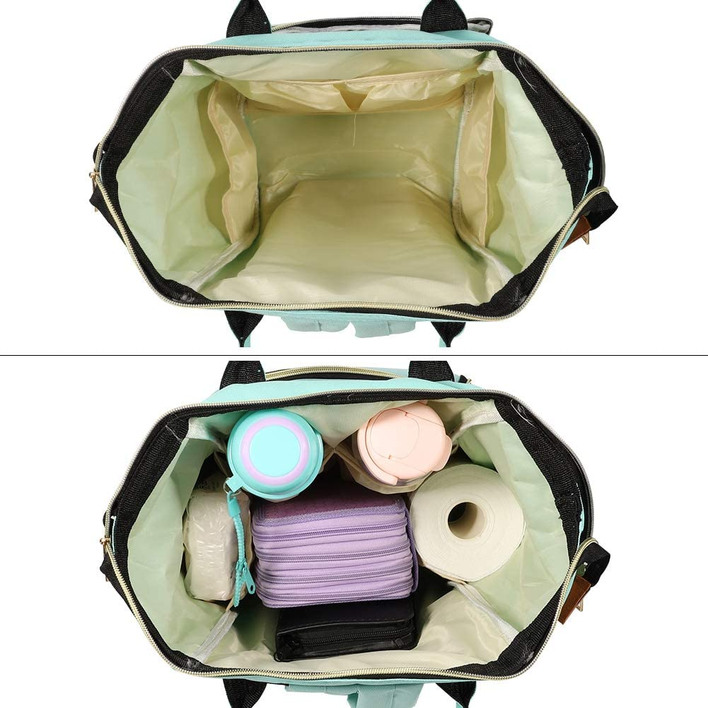 Multi-Function Waterproof Large Capacity Nappy Bags Rucksack Ideal for Mom /& Dad 3X Insulated Bottle Warmer Pockets Blue metagio 1 Pack Baby Diaper Bag Backpack Changing Bag with 2X Stroller Hook