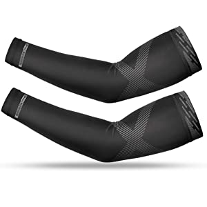 ROCK BROS UV Protection Cooling Arm Sleeves Long Sun Sleeves for Men Women Sunblock Cooler Protective Outdoor Sports Running Golf Fishing Cycling