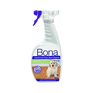 Bona Hardwood Floor professional formula refresher provides a clear highly durable gloss to polyurethane finished wood floors that are dull worn scratched or show signs of Bona Hardwood Floor Spot Cleaner Pet 36oz