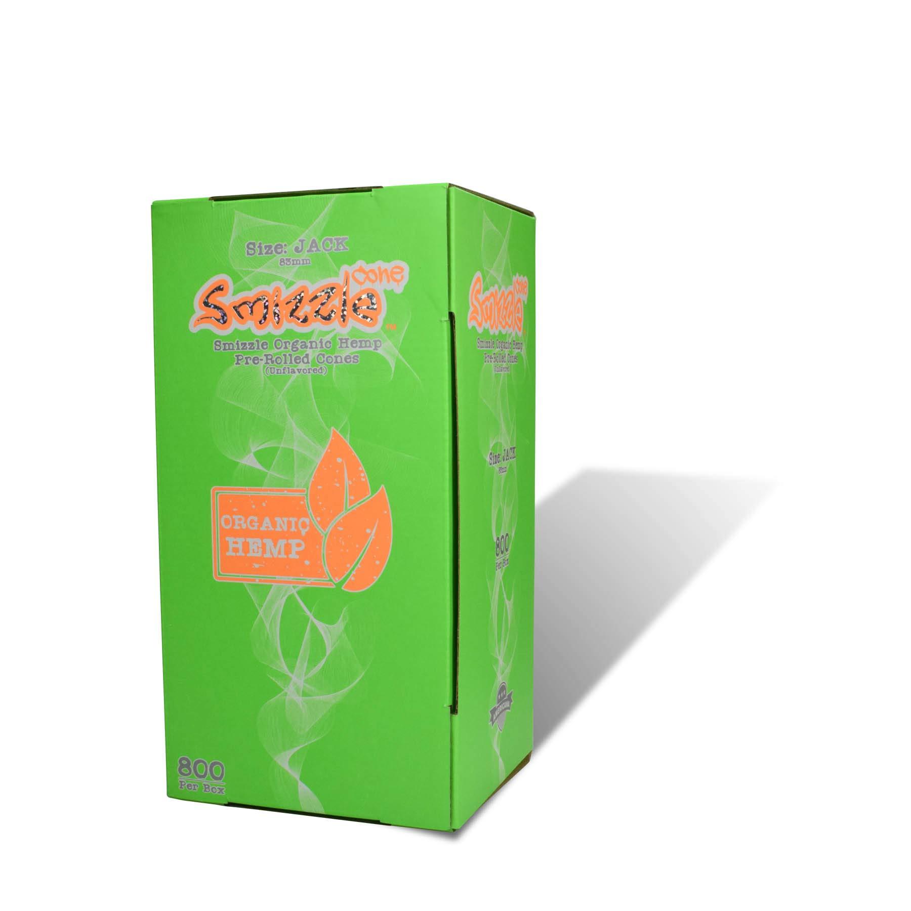 SMIZZLE 800 ct Pre-Rolled Organic Hemp Cones, Jack 1-1/4 (83mm) Tower Bulk Pack Tower Bulk Pack for Dispensaries