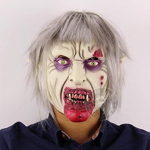 XIBAO Máscara de Miedo, Talla única, máscara de Vampiro Zombie ...