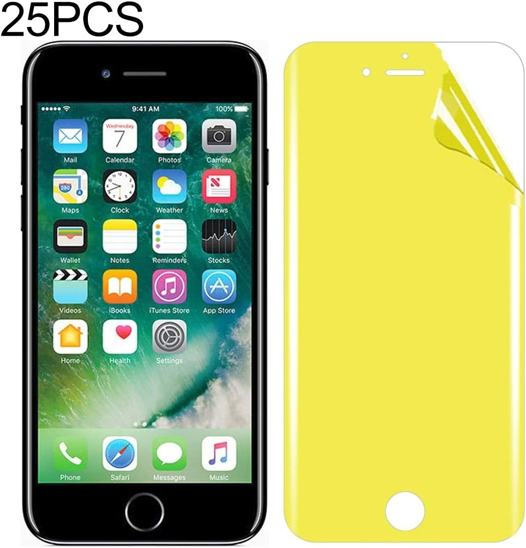 LGYD for 25 PCS for iPhone 7 Plus 8 Plus Soft TPU Full Coverage Front Screen Protector