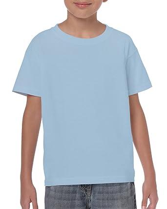 Light Blue Boys Girls Childrens Kids Unisex Plain T Shirt Tee Shirt