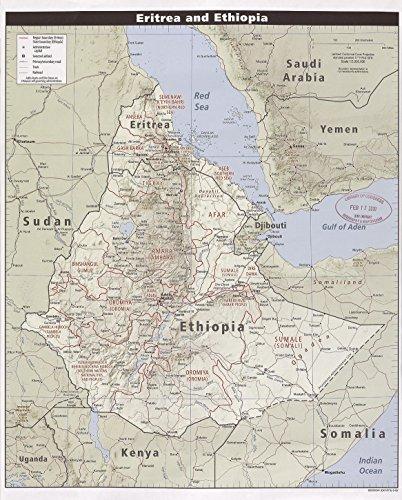 Map Poster - Eritrea and Ethiopia. - 24