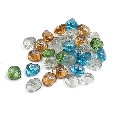 sourcingmap 500G Multicolores Piedras De Cristal Granos Decorativos Piedras Para Tanque De Pescados De Acuario