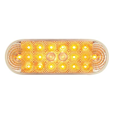Grand General 77051 Amber Oval Low Profile Spyder 20-LED Sealed Park/Turn/Clearance Light: Automotive