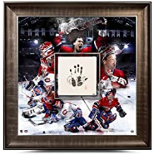 """PATRICK ROY Autographed Canadiens """"TEGATA"""" Stamped Framed Mosaic - Upper Deck Certified - Autographed NHL Art"""