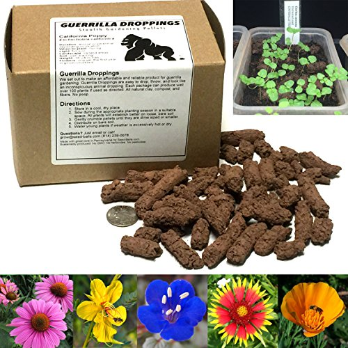 Guerrilla Droppings- Native to your zipcode! Pollinator-Friendly Wildflower Gardening Pellets