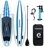 SUP サップ インフレータブル スタンドアップパドルボード - WOWSEA AN14 積載重量130-150kg 安定性抜群 マリンスポーツ アウトドア 海 夏 セット