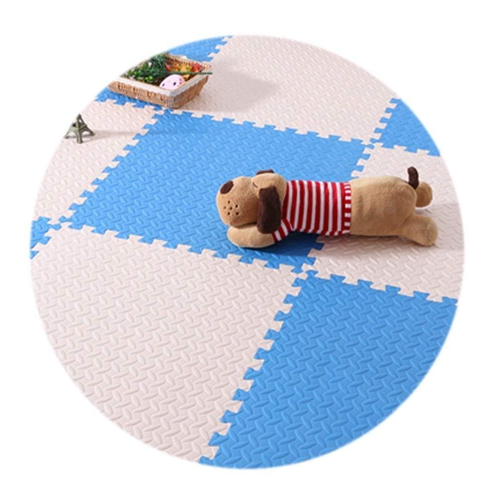 E 9PCS HLMIN Tapis Puzzle en Mousse Antidérapant Soft Puzzle Enfant Chambre Splice Prougeection De l'environneHommest Tapis De Jeu Tapis De Rampage De Mousse, MultiCouleure (Couleur   B, Taille   12PCS)
