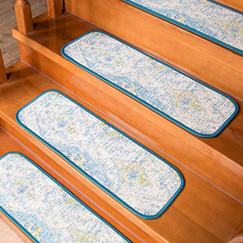 - AMIDA Carpet Stair Treads Washable Non-Slip Indoor Acrylic Free Tape Stair Tread Mats Stair Rug Treads (Set of 14) 9
