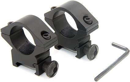 1 inch 25.4mm Scope Ring Low Profile 20mm Picatinny Rail Flashlight Sight Mount