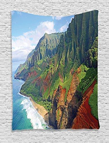 Hawaiian Decorations Ambesonne Adventurous Landscape