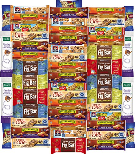 Ultimate Healthy Bar & Office Snacks Gift Variety Pack Bulk Sampler (Care Package 50 Count) (Sampler Snacks)