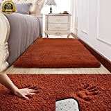 Ultra Soft Fluffy Rugs for Living Room, HIGOGOGO 70 by 78 inch Soft Bedroom Rugs Purple Color Boys Girls Area Rugs Thickness:1.18 inch Living Room Carpet