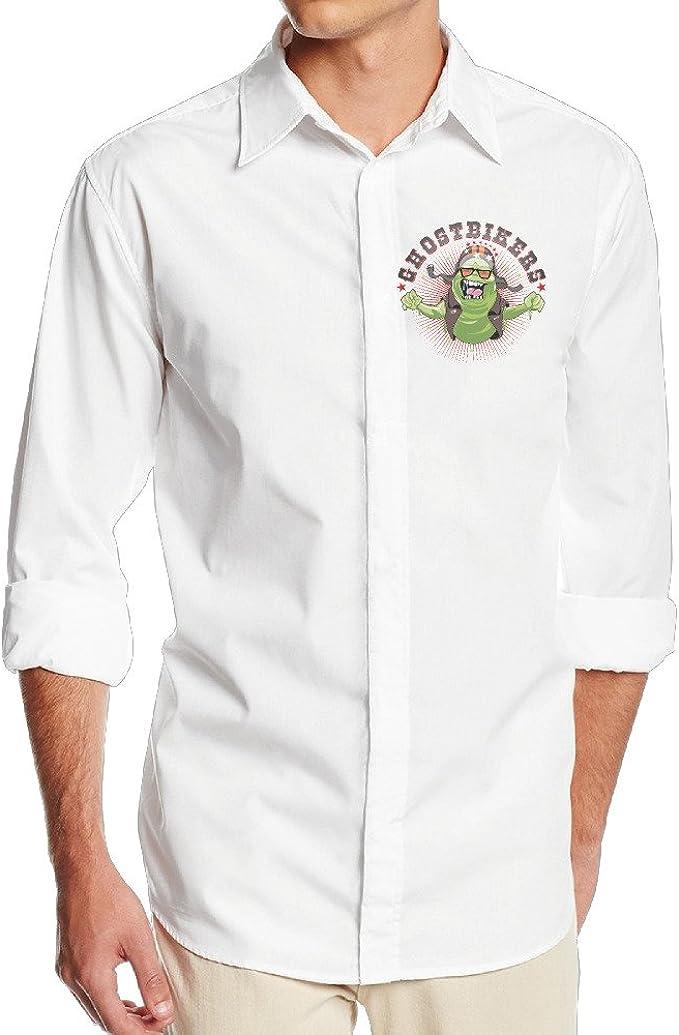 boss-seller Hombres Cool Moquete camisa de vestido de manga larga ...