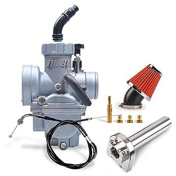 e68cad651ef3f NIBBI Replacement Orginal Carburetor Kit Oxidize PE24MM Adjustable length  95CM Throttle Line Handlebar 48MM Intake Air