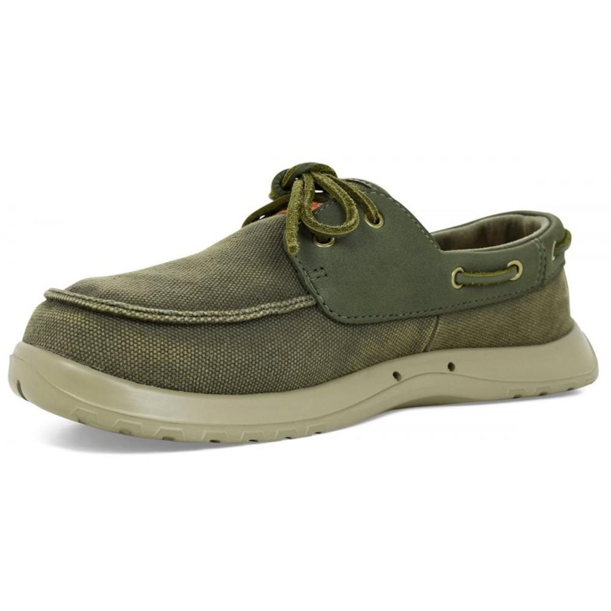 SoftScience The Cruise Canvas Men's Boating Shoes - Sage, Size 7 by SoftScience