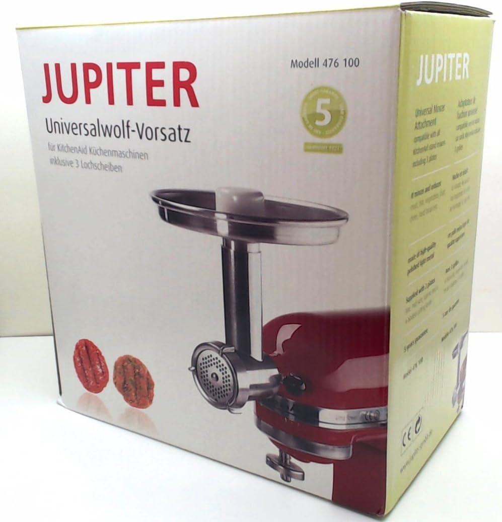 smerigliatrice di cibo in metallo Jupiter allegato per KitchenAid Mixer 478100 Confezione da 2
