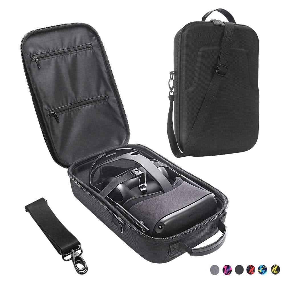 Esimen Fashion Travel Case for Oculus Quest VR Gaming Headset and Quest Controllers Accessories Waterproof Carrying Bag (Black) by Esimen