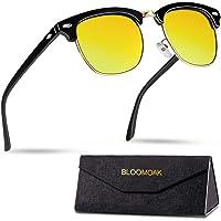 Bloomoak Nachtrijbril, gepolariseerde rijglazen|Klassiek ontwerp | Semi-frame | Metalen klinknagels | UV400 bescherming…