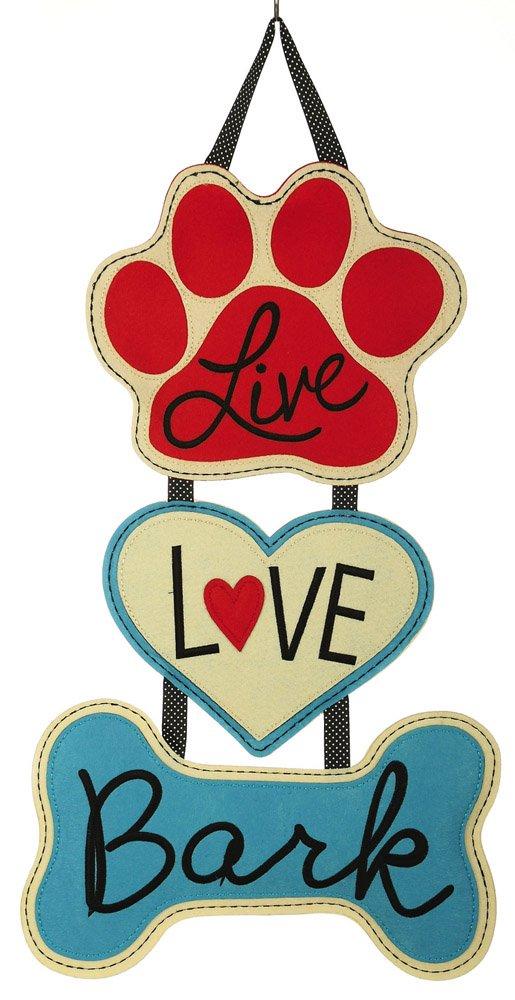 Evergreen Flag Live Love Bark Door Hanger