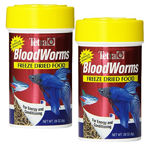 Tetra Blood Worms Freeze Dried Treat, 0.28-Ounce, 100-Ml (2 Pack)