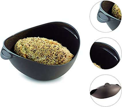 Black Loaf and Bread Maker Steamer Bowl Easy to Cover it up without Lid Autotipps Silicone Loaf Pans for Baking Bread