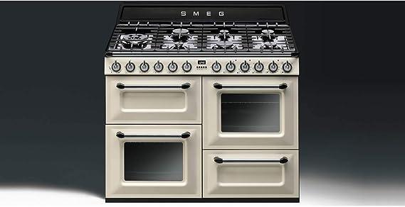 Smeg TR4110P1 - Cocina (Cocina independiente, Negro, Crema de color, Botones, Giratorio, Frente, Electrónico, Encimera de gas): Amazon.es: Grandes electrodomésticos