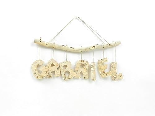 Prenom Lettres En Bois Deco Enfant Bebe Cadeau De Naissance Mobile En Bois Avec Prenom Fabrication Artisanale Francaise
