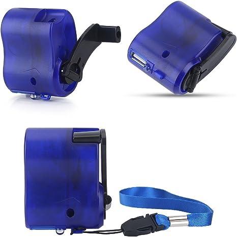 Amazon.com: Mini manivela USB Radio linterna teléfono móvil ...