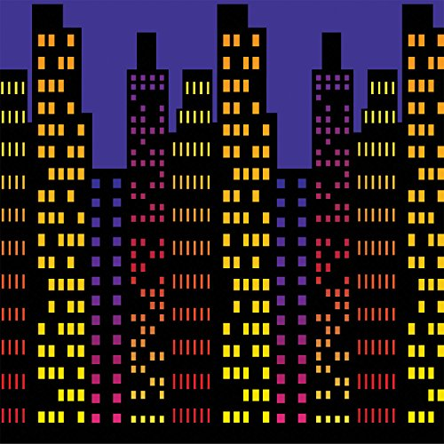 Cityscape Backdrop Party Accessory (1 count) -