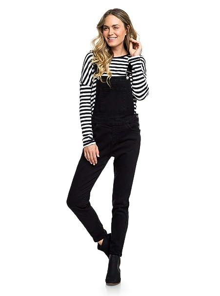 9329711143c Roxy - Pantalón de Peto Vaquero - Mujer - XL - Negro: Amazon.es ...