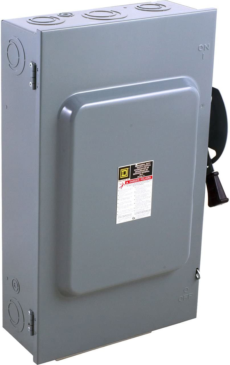 Square D by Schneider Electric DU324 200-Amp 240-Volt 3-Pole Non-Fusible Indoor General Duty Safety Switch,