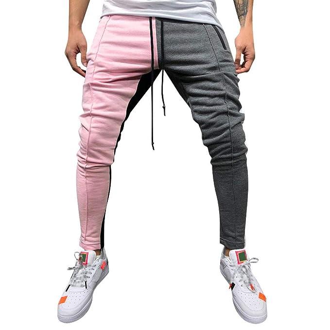 ODRD Yoga Hosen Herren Pants Mode Männer Casual Feste Lose