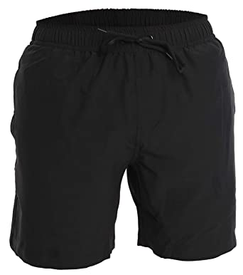 4000c5a774 Men's Swim Trunks and Workout Shorts - S - Black - Perfect Swimsuit or  Athletic Shorts. Roll over image to zoom in