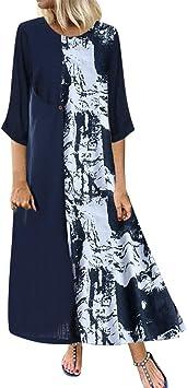 ღLILICATღ Vestidos de Mujer Casual, Vestido Tallas Grandes ...