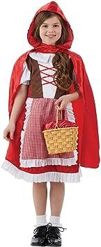 Fun Shack Roja Caperucita Roja Disfraz para Niñas - XL: Amazon ...