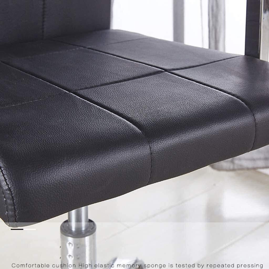 GSN Snurrstol Modern PU läder kontorsstol Justerbar hemdator Executive Chair on Wheels 360 ° Swivel (Color : Dark Brown) Brown