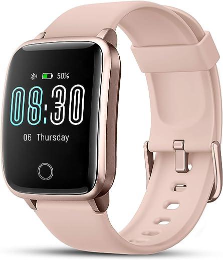 LIFEBEE Smartwatch Orologio Fitness Uomo Donna con Cardiofrequenzimetro da Polso Smart Watch GPS Impermeabile IP68 Sportivo Contapassi Cronometro ECG Sveglia Activity Tracker Bambini per Android iOS