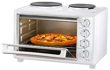 Miniküche mit backofen und herdplatten  Mini Küche mit Ofen und 2 Kochplatten 1500 Watt 28: Amazon.de ...