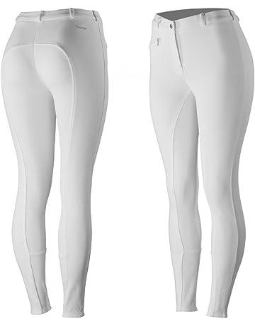 61de8ba9e8 HORZE Pantalones para Montar con Asiento Completo de Silicona para Mujer  Active