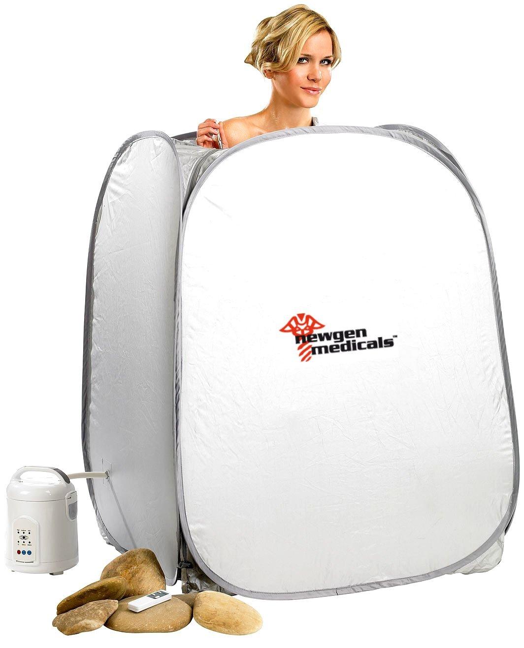Cabina Home Sauna Original NewGen Medicals –  La Sauna a casa tua con mando a distancia portatil dimagrante Elimina Chili NC5122
