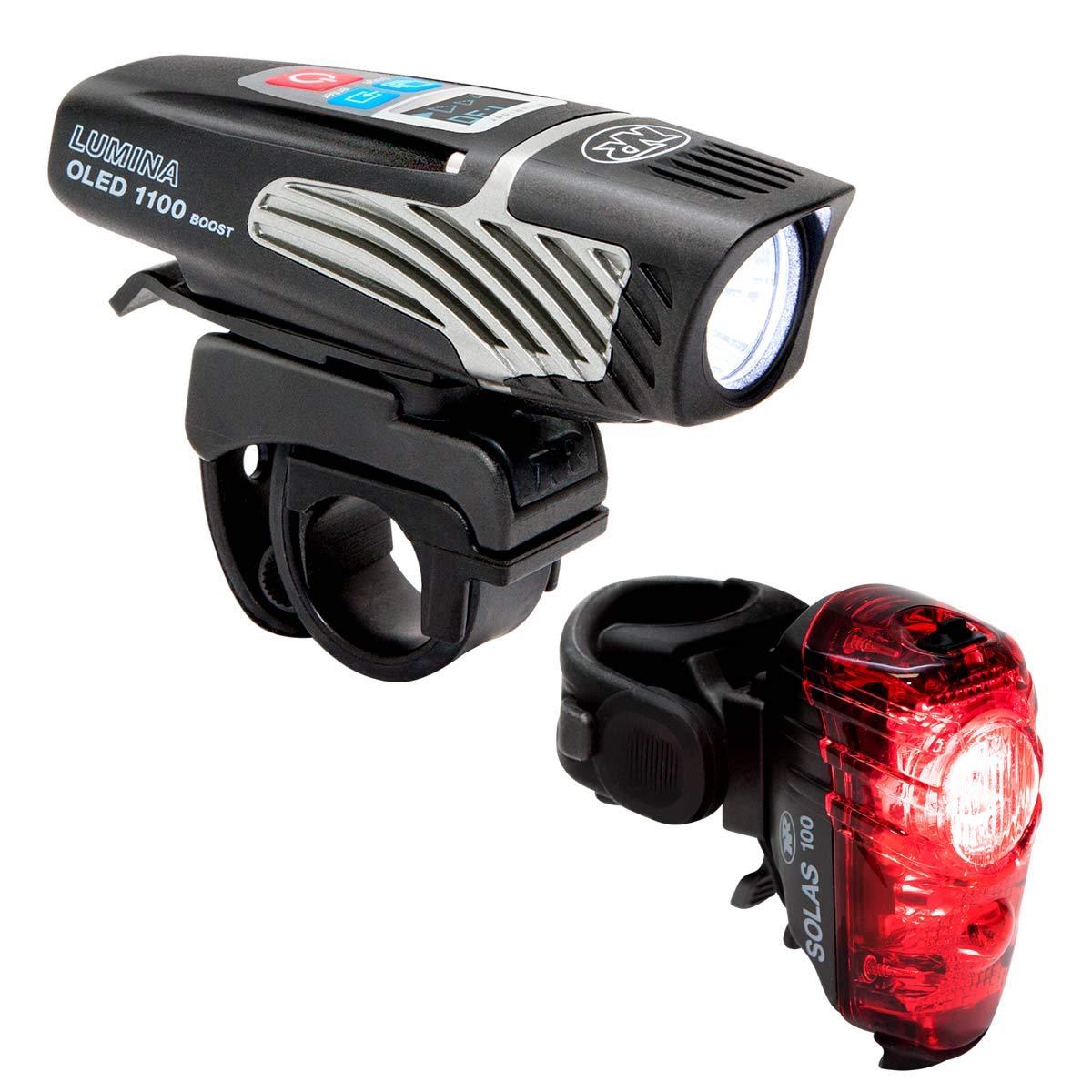 NiteRider Lumina OLED 1100 Boost Solas 100 Combo Bike Headlight Taillight
