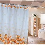 HJL Peach Blossom ohne Polyester Dusche Verblassen Vorhang 180 * 200cm Orange
