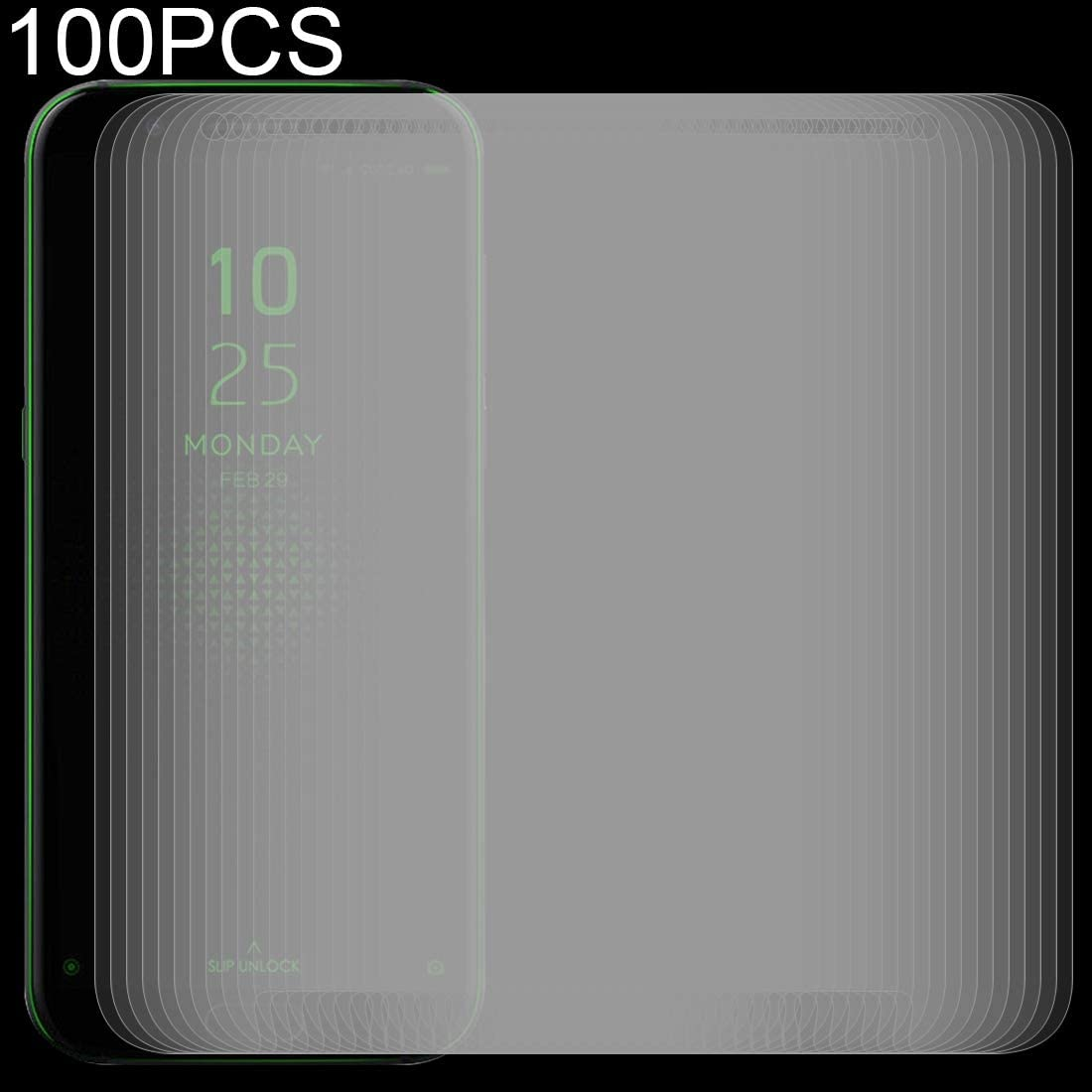 ProtectoresYHM 100 PCS 0.26mm 9H 2.5D Tempered Glass Film for Xiaomi Black Shark